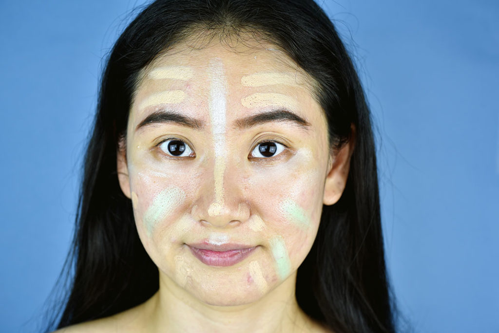 Color Correcting example on a woman